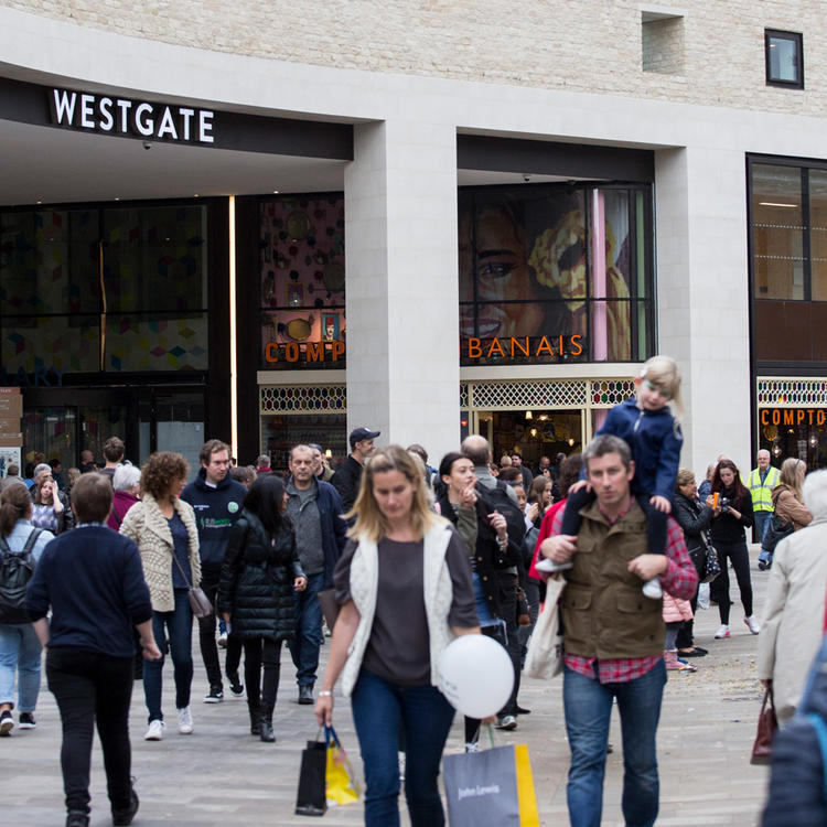 Westgate Oxford shoppers