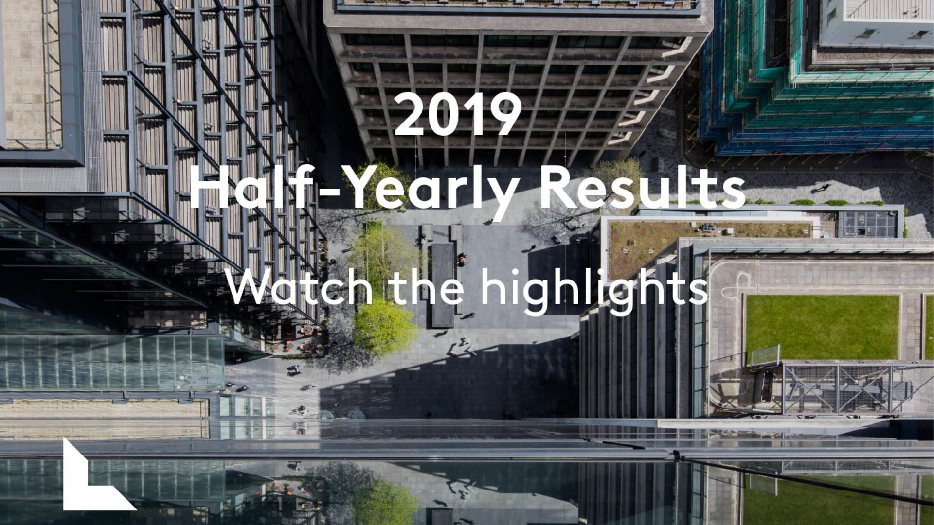 2019 Half-yearly results