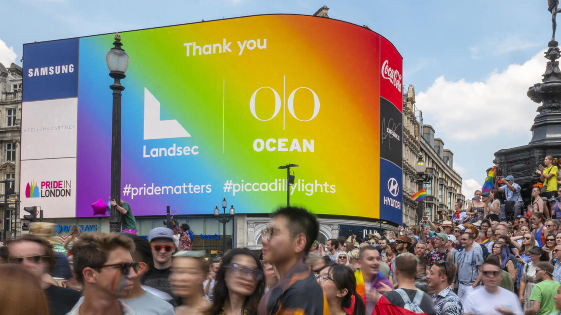 London Pride at Piccadilly Lights