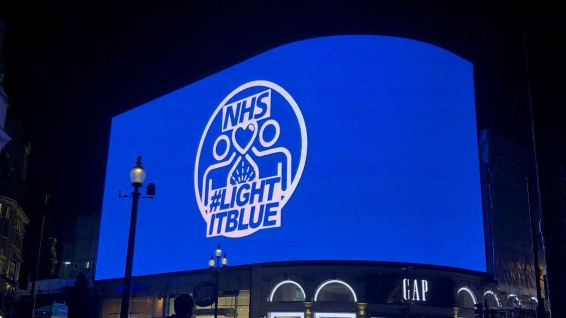 NHS #LightItBlue