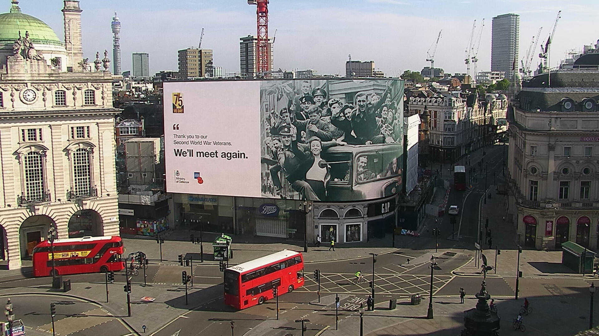 VE Day Piccadilly Lights